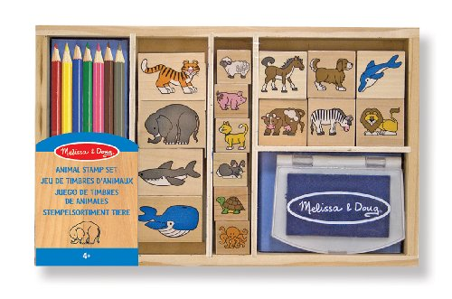 (Melissa & Doug Animal Stamp Set)