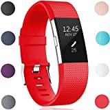 GEAK Replacement bands for Fitbit Charge 2, Fitbit Charge2 Wristbands,Small,Red