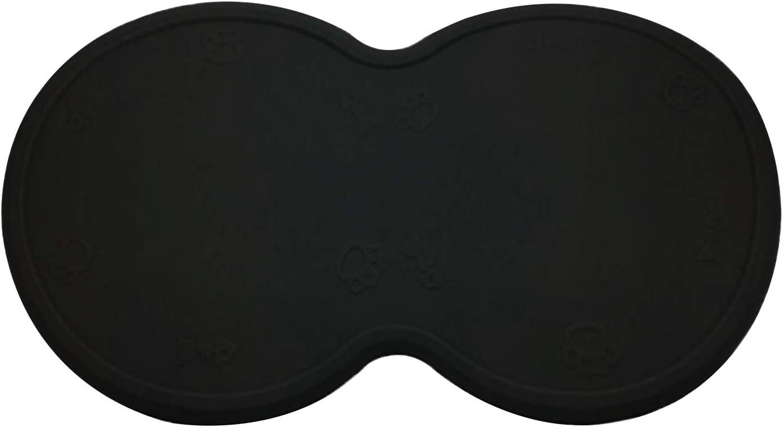 POSAPET Silicone Dog Cat Bowl Mat Waterproof Pet Feeding Mat Non-Slip Dog Placemat Water Bowl Pad