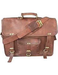 16 inch Leather Messenger Handmade Bag Laptop Bag School Bag Messenger Bag Satchel Bag Padded Messenger Bag 16...