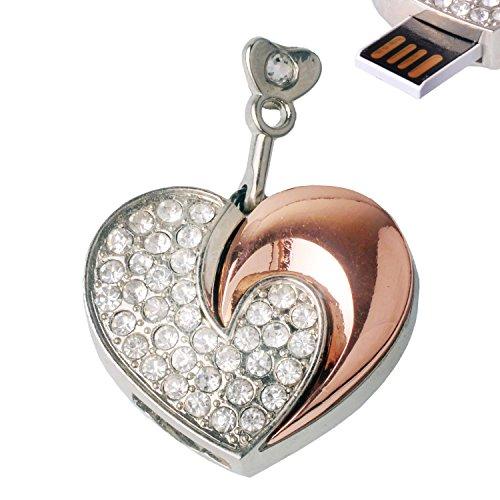 moon heart necklace pendant usb