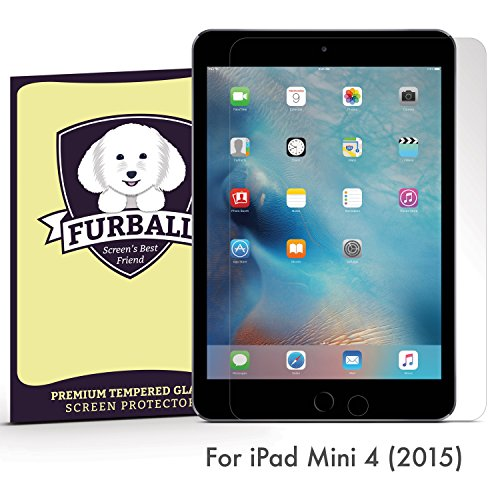 Furball Apple iPad Mini 4 (2015) Premium Ballistic Glass Screen Protector. Ultra thin, 99.99% Touch-Screen Accurate. Protect Your Screen from Drops and Scratches primary