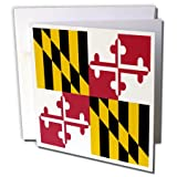 State Flag of Maryland - US American - George Calvert - Greeting Cards, 6 x 6 inches, set of 12 (gc_158370_2)