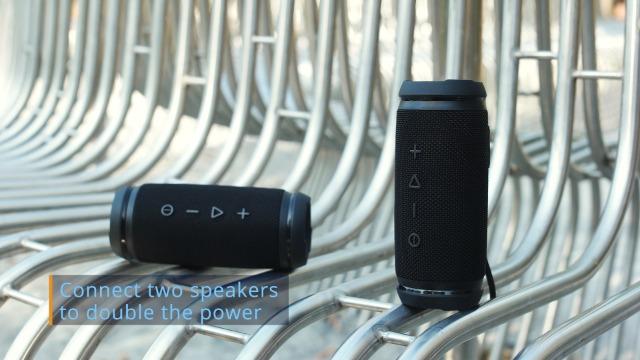 TREBLAB HD7 - Mini Portable Bluetooth Speaker Wireless - 12W Stereo, 360°HD Sound w/Bass, TWS Dual Pairing, w/Mic… 7