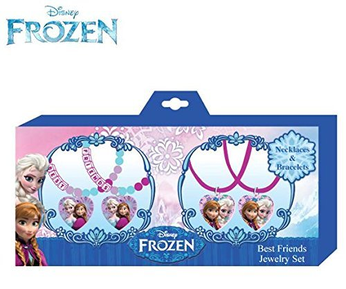 Disney Frozen Necklace and Bracelets Best Friends Jewelry Set