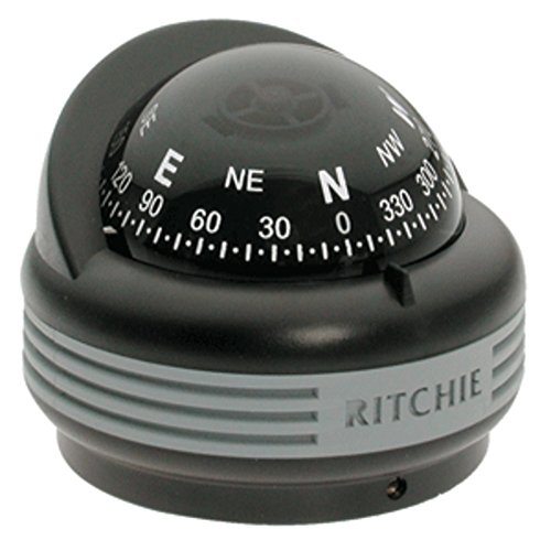 (Ritchie TR-33 Trek Compass - Surface Mount - Black Marine , Boating Equipment)