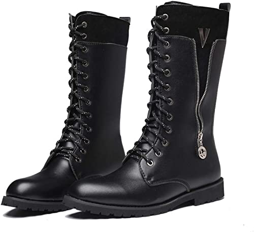 Leather Boots High Boots@Add Cotton_45