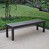 Cambridge-Casual 817140 Alfresco Backless Bench, Dark Grey