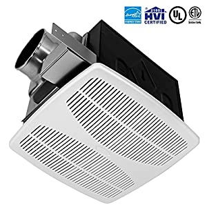 Bv super quiet 90 cfm 07 sone bathroom ventilation for 2100 hvi bathroom fan