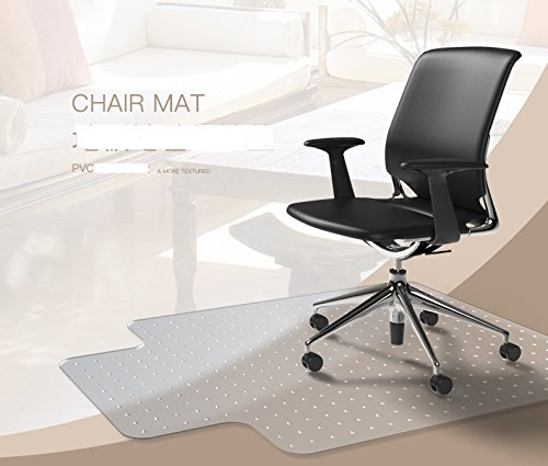 Heavy Duty Carpet Chair Mat Thick and Sturdy Transparent Chair mat for Low and Medium Pile Carpets Size 36'' X 48'' with Lip by Yoshiko
