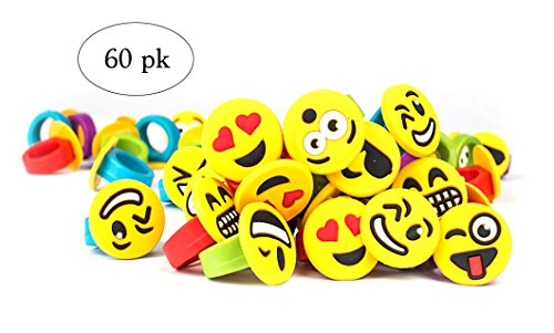 Emoji Party Favors Emoticon Rings