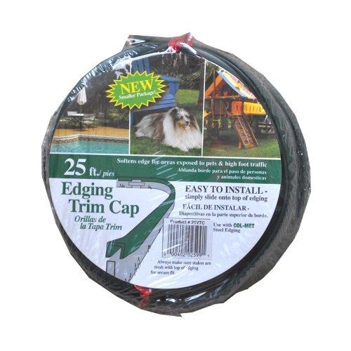 Col-Met 300-in Green Vinyl Landscape Edging Cap Model# 25VTC (1, Green)