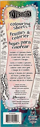 Ranger DYA55228 Dyan Reaveley's Dylusions Coloring Sheets Borders & Quotes Multicolor