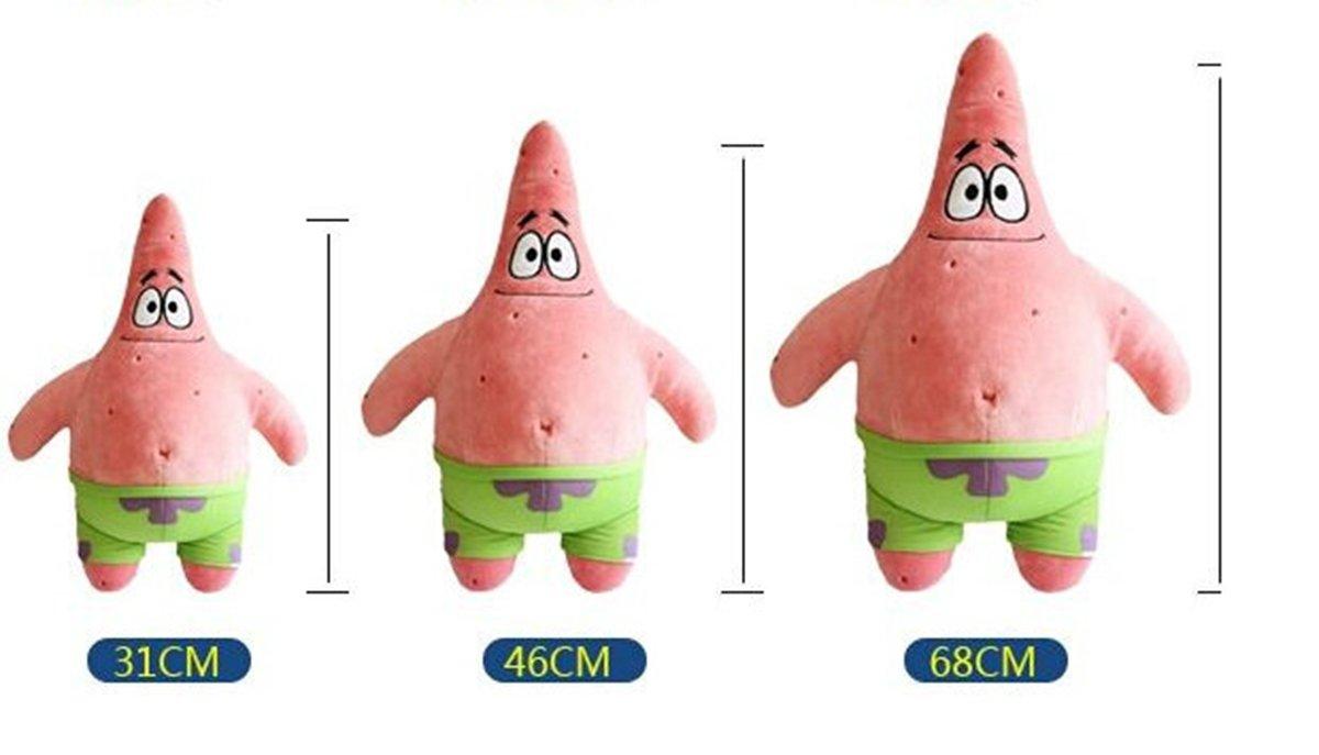 OlgaToys/® Patrick The Starfish Plush For Kid/'s Birthday Gift Idea Childrens Day S Height:31cm//12.21