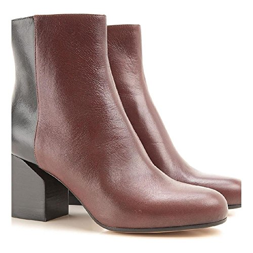 Maison Martin Margiela Women's Medium Brown Leather Midcalf Booties Shoes - Size: 11 - Margiela Maison 11 Martin