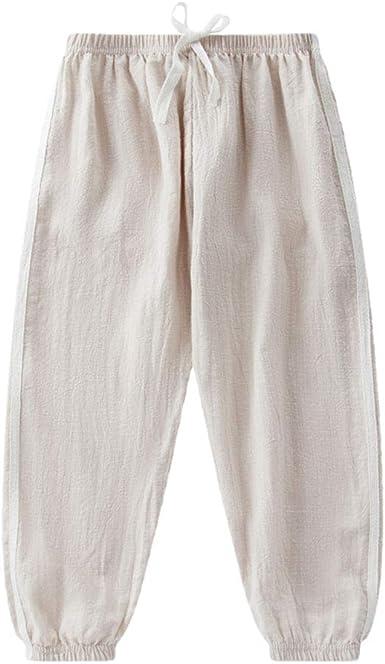 DQCUTE niños niñas Verano Largo Bloomers Slub algodón Harem Pantalones Deportivos Activos Jogger Pantalones de chándal: Amazon.es: Ropa y accesorios