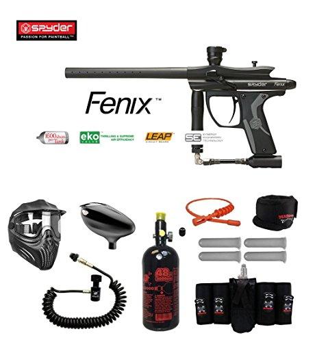 Paintball Guns Spyder Electronic (Spyder Fenix Maddog Elite Remote HPA Paintball Gun Package - Black)