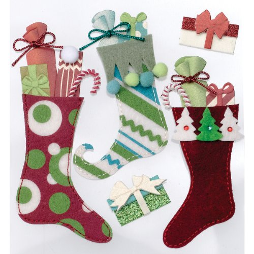 Jolee's Boutique Dimensional Stickers, Stuffed (Stickers Christmas Stocking)