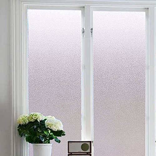 Color Your World Plastic Static Cling Window Film Adhesive Free White Frosted Privacy Window Covering Film for Shower Bathroom Office,17.7 x 78.7 Inches(45CM by 200CM) by Vakker Bahay