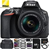 Nikon D5600 DSLR Camera with Nikon AF-P DX NIKKOR 18-55mm f/3.5-5.6G VR Lens 11PC Accessory Bundle – Includes 64GB SD Memory Card + MORE For Sale