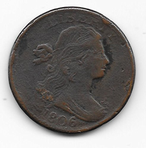 1806 DRAPED BUST LARGE CENT- NICE DETAIL-AFFORDABLE TYPE COIN-HARD TO LOCATE-VERN'S CARD & COIN LRG Cent F DETAIL