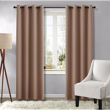 Amazon.com: Grey Curtains Blackout Draperies for Bedroom - (Gray ...