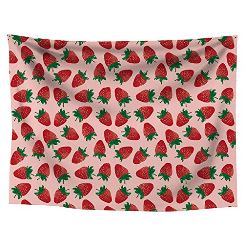(Redvive TopStrawberry Tapestry Living Room Bedroom Decorative Painting Fabric Wall Painting)