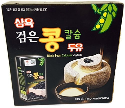 Sahmyook Black Bean Calcium Soy Milk, 6.5 Fl. Ounce (Pack of 16)