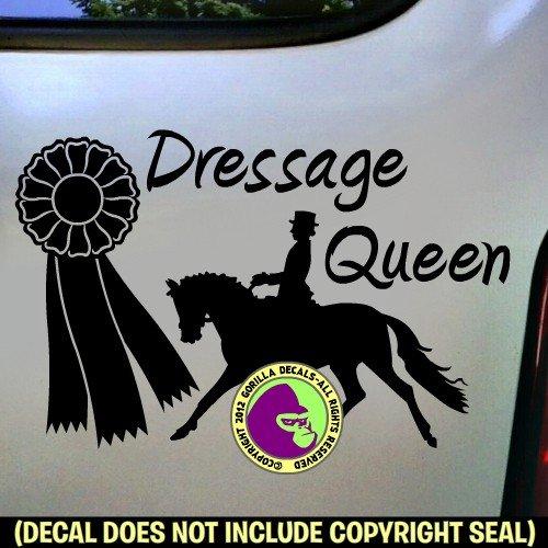 DRESSAGE QUEEN Vinyl Decal Sticker E