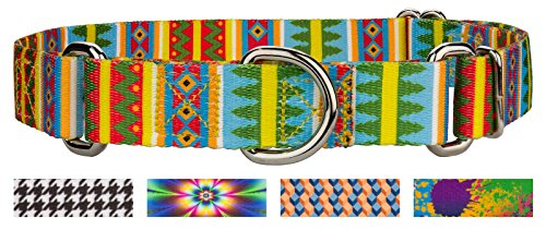Image of Country Brook Design | 5/8 Inch Spring Pines Martingale Dog Collar - Small