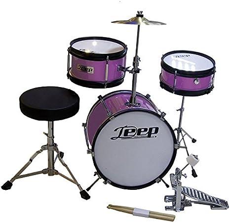 Bateria para niños color Rosa Metálico Deep 123-PP: Amazon.es: Instrumentos musicales