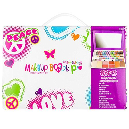 Expressions Girl Make-Up Book Pro Deluxe Cosmetics Set