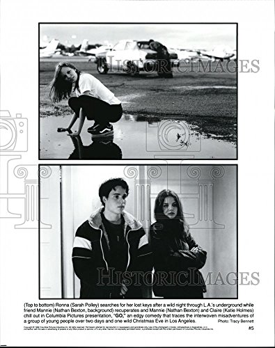 1999 Press Photo Sarah Polley Nathan Bexton and Katie Holmes star in - Mother Katie Father Holmes And