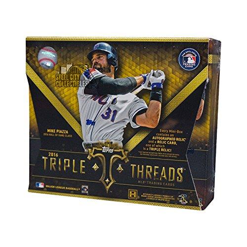2016 Topps Triple Threads Baseball Hobby Box from Topps Triple Threads Baseball