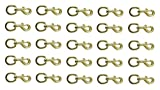Derby Round Eye Bolt Snap Brass Plated (Lot of 25)