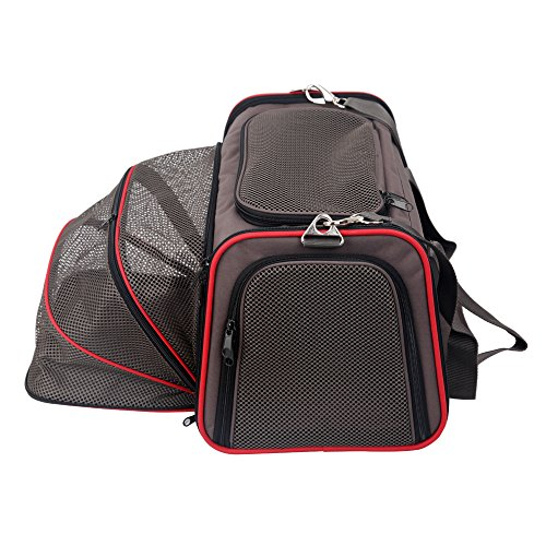 Petsfit 18'x11'x11' Expandable Foldable Washable Travel Carrier, Not All Airline-Approved Pet Carrier Soft-sided