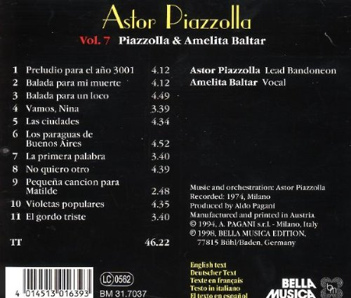 - Piazzolla & Amelita Balta - Amazon.com Music