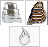 "4 TIER TEAR DROP MULTILAYER BIRTHDAY WEDDING ANNIVERSARY CAKE TINS PANS 6"" 8"" 10 "" 12"""