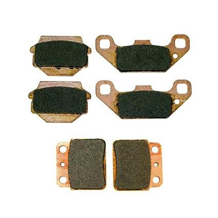Front /& Rear Semi-Metallic Brake Pads 1987-1990 Suzuki Quadracer 500 LT500R 2x4
