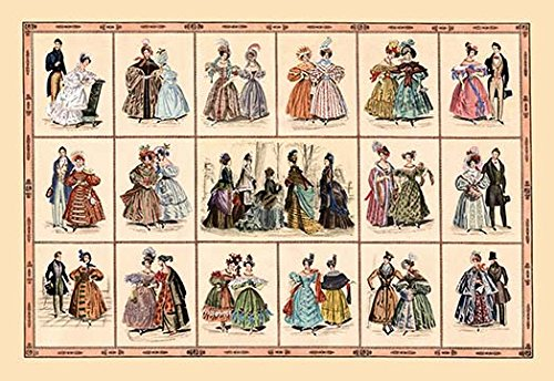 Buyenlarge Italian Fashion of 1833 - Composite - 16