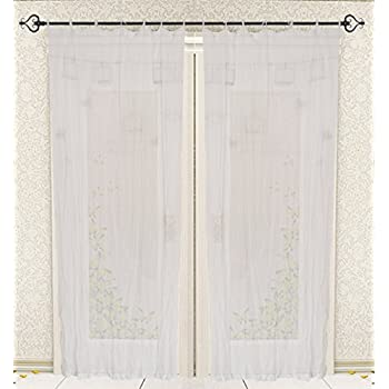 Amazon Com Best Home Fashion Sheer Voile Curtains Tie