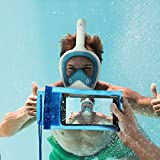 Full Face Snorkel Mask Set for Adults and Children, Easybreath Snorkeling Gear with 180 Sea View with Universal Waterproof Case and Anti-Fog Spray