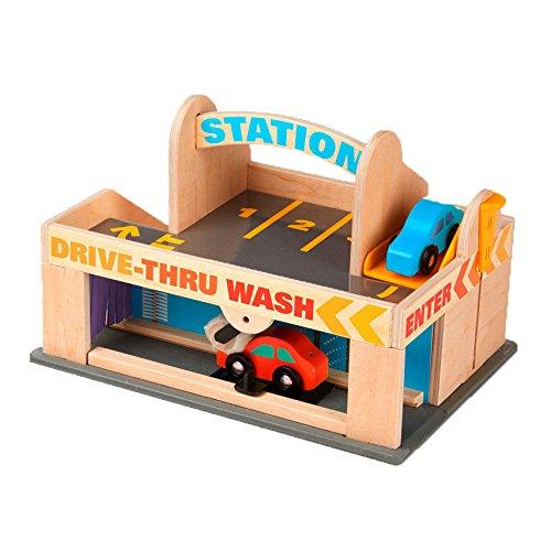 Spielzeug Waschanlage - Melissa & Doug Parkhaus mit Tankstelle und Waschanlage