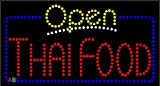 17''x31'' Animated Thai Food Open LED Sign w/Flashing Controller