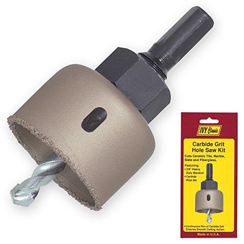 IVY Classic 26628 1-3/4'' Carbide Grit Edge Hole Saw Kit, USA, 1/Card