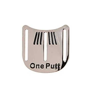 Lacyie Mini Putt Golf Ball Marker Putting Alignment Aiming Tool Magnetic  Cap Clip Removable Metal Golf cab4af1221a9