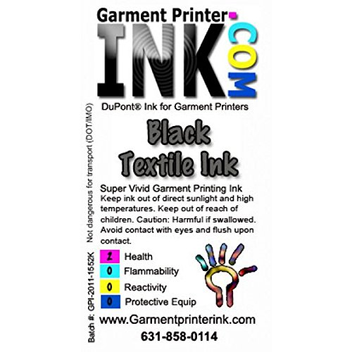 DTG Dupont Artistri Direct to Garment Ink Liter , Black by Garment Printer Ink