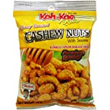 Koh-kae Honey Roasted Cashew Nuts with Sesame Snack (Anacardium Occidentale) Net Wt 35 G (1.23 Oz) X 3 Bags