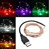 Lights & Lighting - 2m 20 Led b Copper Wire Led String Fairy Light For Christmas Xmas Party Decor - b Led String Lights Fairy Light Bedroom Patio Christmas White Warm - 1PCs