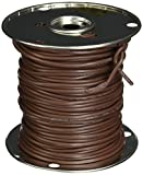 Southwire 64170444 18/7 250-Feet 7 Conductor Thermostat Wire, 18-Gauge Solid Copper Class 2 Power-Limited Circuit Cable, Brown